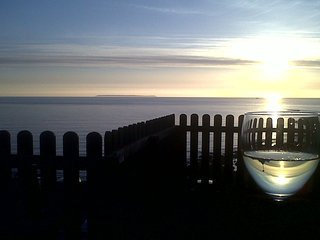View from Seacroft deck at sunset