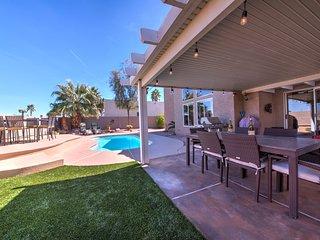 Backyard Pool and Patio Area