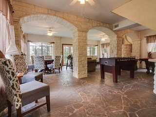 Unique, dog-friendly, waterfront home w/ game tables, patio, & balcony