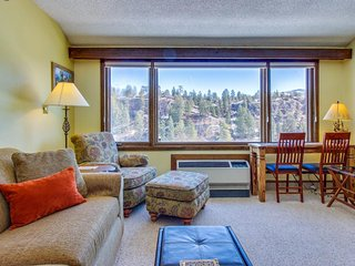 Cozy mountain studio w/ gym access & mountain views - quick drive to skiing!