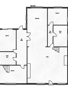 Floor Plan-all rooms on one floor