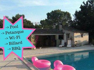 Villa Cicada de 220m2 - Piscine, BBQ, Petanque, Billard, 6adultes-2enfants, Les-Pennes-Mirabeau