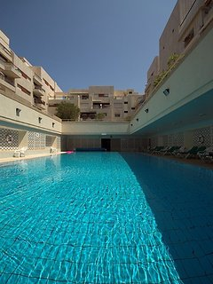 Outdoor lap swimming pool