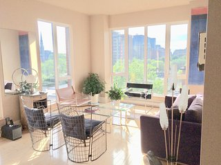 Downtown Montreal - Appart standing 85m2, 6e, balcon, terrasse, jardin, velo
