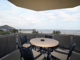 Sandpiper Condominiums - Unit 201 - Ocean Front Panoramic Views of Tybee Beach