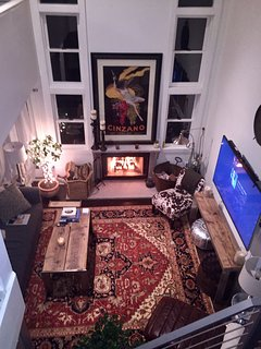 Living room from the loft area