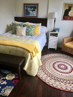 Upstairs bedroom wirh a queen bed