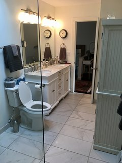Upstairs bathroom view from the shower