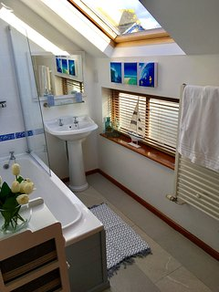 Separate Private Bathroom with Bath Tub, Sink & WC