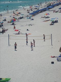 Beach volley ball on Surfside beach