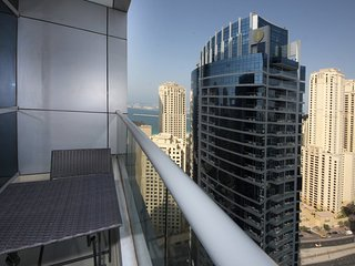 Panoramic 180-degree Marina view from high floor 1 BR