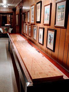 Hallway shuffleboard, anyone?  It looks easy....looks are deceiving!