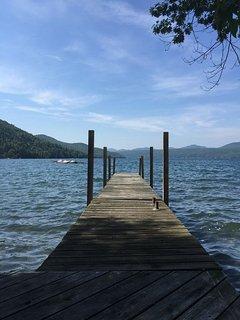 Enjoy sunbathing or jumping from the dock. Water is 3' deep w rock/sand bottom.