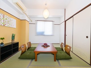 Namba/USJ/Kyoto Go Easily★Tamami Room for 6P★37, Osaka