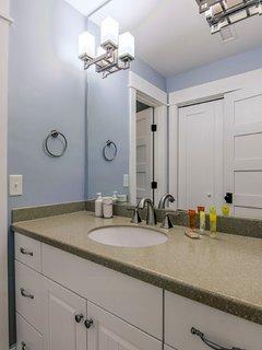 Guest bathroom, plenty of counter space!