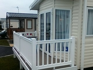 Willerby Sierra 2016 Two bedrooms luxury caravan with veranda, Mersea Island