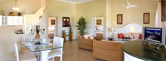 Crown Suite at base of a picturesque mountain, walking distance Cofresi Beach