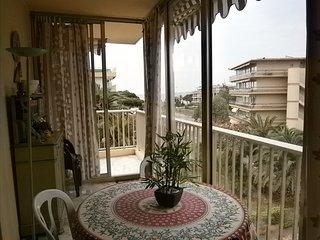 appartement 65 m2 150 m de la plage-terrasse-1 chambre 4 couchage -parking-nice