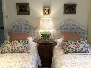 Twin single bedded room . With Family bathroom next door.