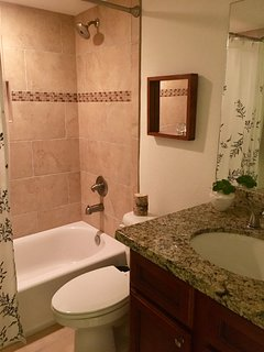 second bathroom with tub shower complement