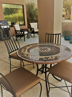 dining table outdoors on patio