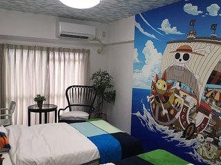 Stay in ONE PIECE's room!Close to Himeji sta!#11T1