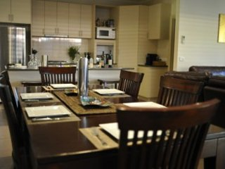 Open Plan Living - Modern Kitchen, Pod Coffee Maching, Dishwasher, Microwave large fridge/freezer