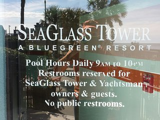 Myrtle Beach, Ocean Front, Sleeps 4,  (July 8-15) SEAGLASS TOWER