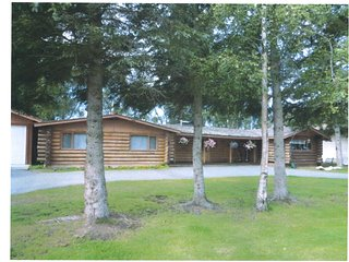 Log home on the famous Kenai River with private fishing