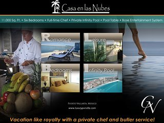 V.I.P Penthouse, 11,000 Sq. Ft. Chef & Staff Incl, Puerto Vallarta