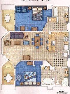 Surf Two Bedroom villa layout