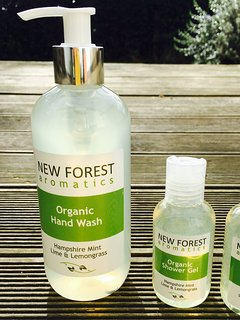 Locally made organic shower products.