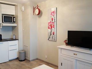 Studio meublé n°14 avec balcon face mer et parking sécurisé, piscine et tennis, Châtelaillon-Plage
