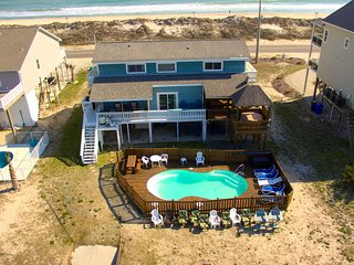 Tiki House, Private pool, hot tub, dock, tiki bar, North Topsail Beach