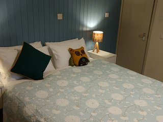 Two bedrooms with king-sized beds - one can be split to provide two singles - ideal for families
