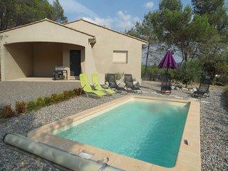 Villa entre lac et cité et sa piscine chauffée