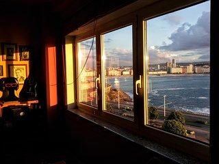 Piso divino con vistas al mar, La Coruña