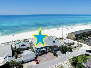 Private Home w/ Pool & Hot Tub - On the Beach!  Gorgeous! Sleeps 22!