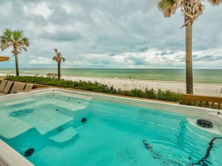 Golden Beach House - Beachfront Home w/ New Swim-Spa - Huge 67 Foot Party Deck!