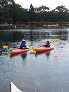 Kayaking across from Barrett's Park