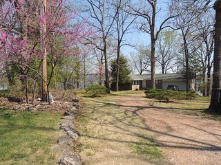 Heavenly Osage Beach Lake Home on Point Lot with Panoramic View
