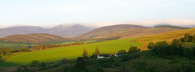 The view from Corrie Cottage