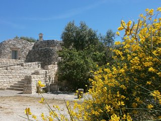 Trullo Villa Giuliana on scenic hills. FREE WIFI