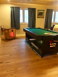 Game Room with Multicade, Pool, Air Hockey, Board Games, Cards/Poker