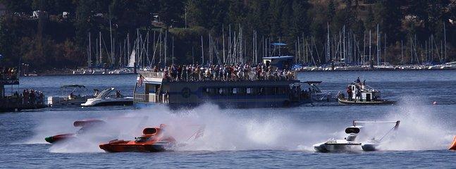 Hydroplane races in lake Coeur d'Alene.
