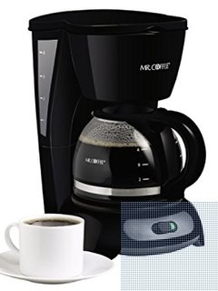 A Mr Coffee 4-cup maker available.  Bring your favorite coffee to enjoy.