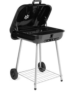 A charcoal BBQ is available.  Bring some charcoal if you want to grill up a meal