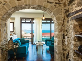 Living room area with sea view