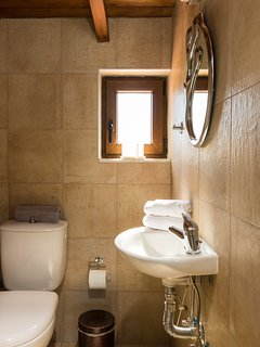 Bathroom with shower on the attic
