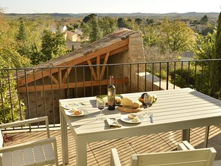 L'Olivier; a sunny house in a special village in the Languedoc with great views